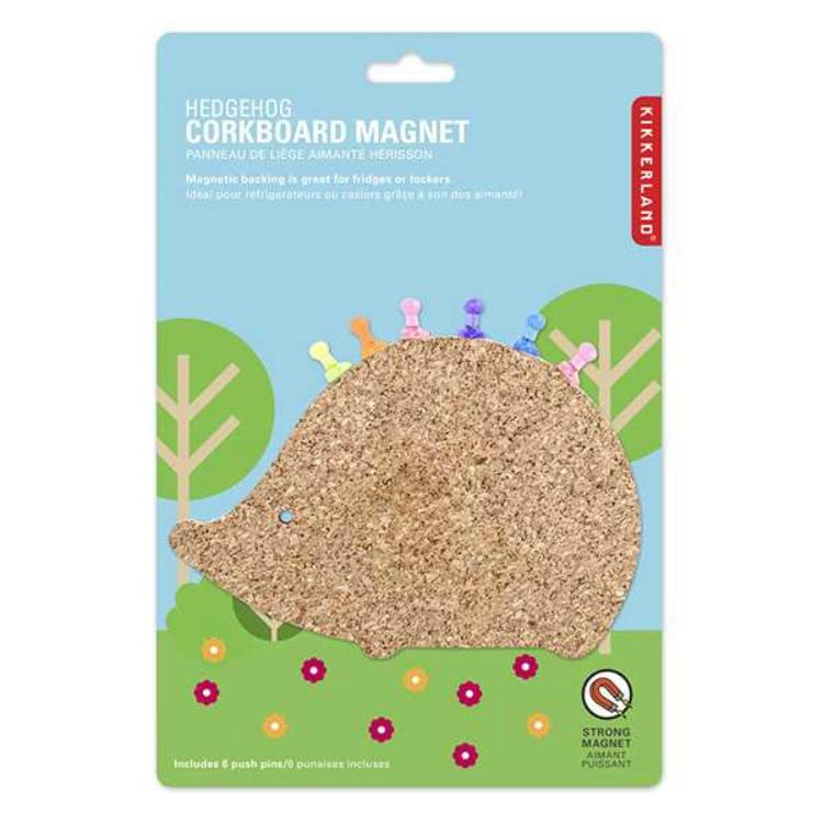 软木刺猬磁性冰箱贴/Hedgehog Corkboard Magnet