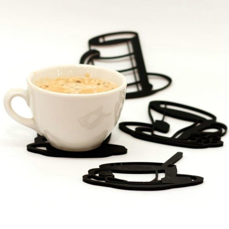 Peleg Design 素描硅胶杯垫四件套/Sketch Coasters
