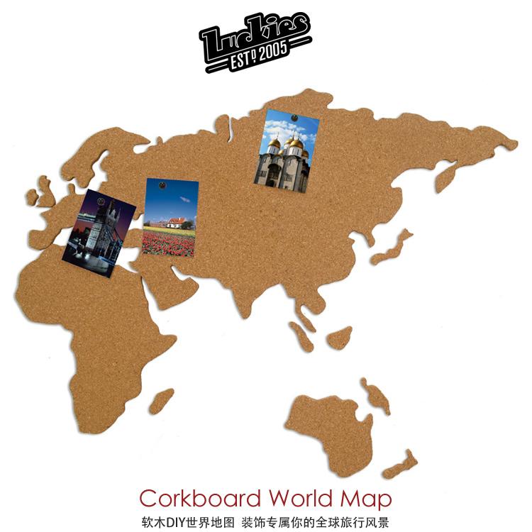Luckies 软木地图留言板/Corkboard Map