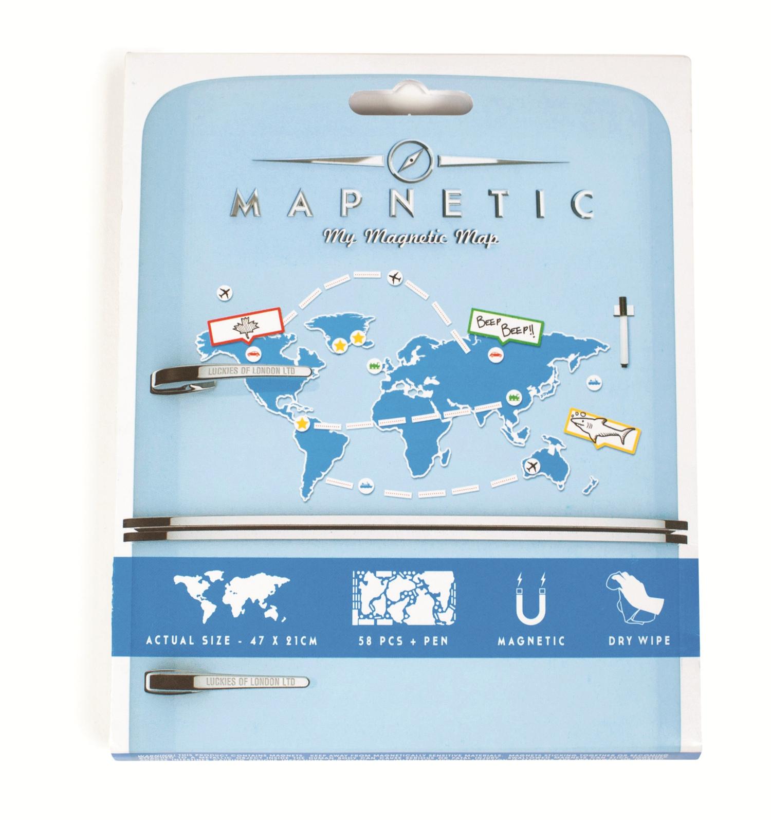 世界地图创意冰箱贴/MAPNETIC