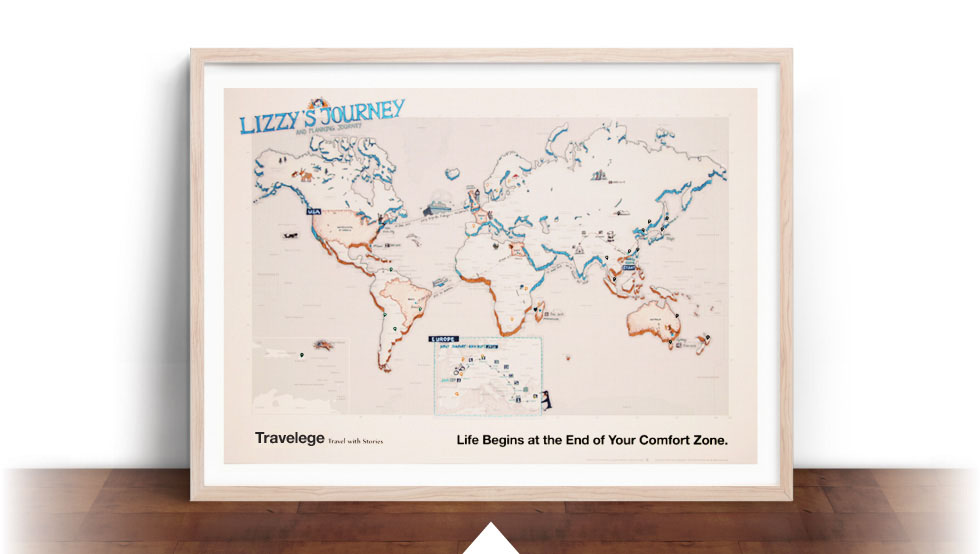 Travelege 旅行世界地图/Travelege Map