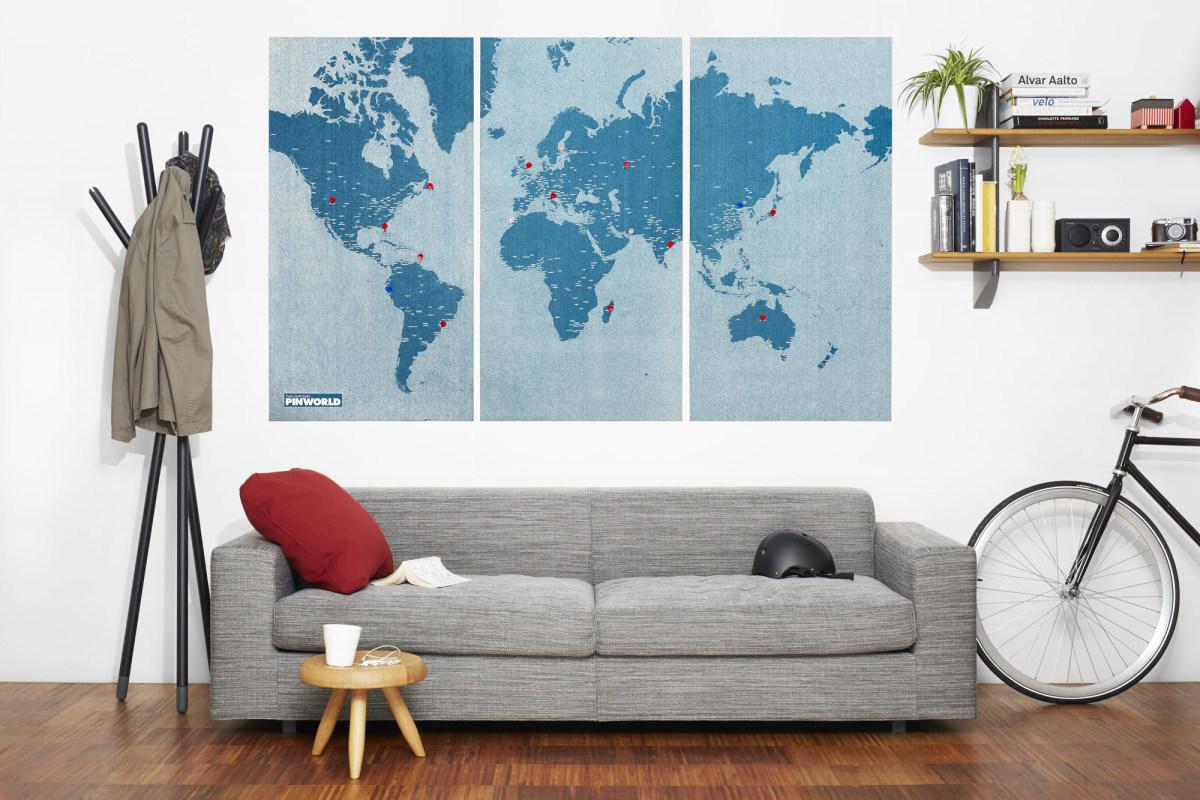 Palomar 旅行图钉地图 三片套装/PinWorld Maps-2
