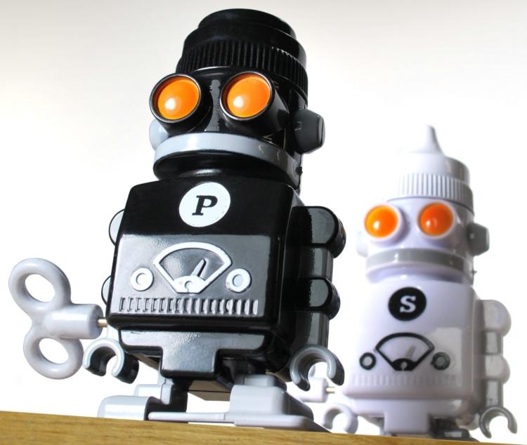 Suck UK 机器人盐椒瓶/Salt & Pepper 'Bots