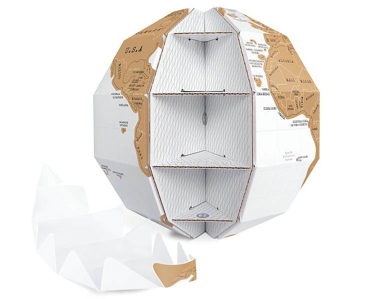 DIY纸制拼装刮刮地球仪/Scratch Globe