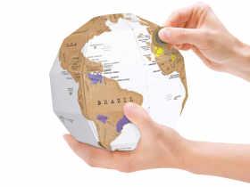 Luckies DIY纸制拼装刮刮地球仪/Scratch Globe