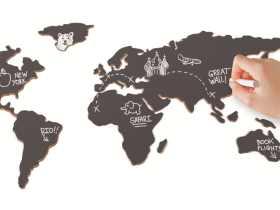 Luckies 软木黑板地图/Chalkboard Map