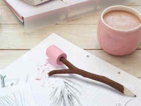 Ototo Design 棉花糖铅笔/Marshmallow – Pencil & eraser