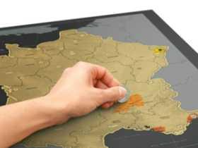 Luckies 刮刮地图-奢华法国版/Scratch Map France