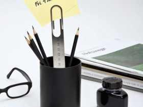 Ototo Design 不锈钢回形针尺子 Cliptip Ruler 创意简约办公文具