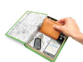 Luckies 书本式车载小型收纳盒/In-Car-Nito 创意书本收纳盒