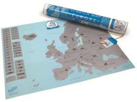 Luckies 刮刮地图欧洲版/Scratch Map Euro 创意旅游礼品