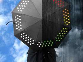 Suck uk 创意变色伞/彩色渐变色雨滴伞/晴雨伞/折叠伞/礼品伞 Colour Changing Umbrella