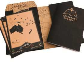 Luckies 冒险者刮刮旅游日志 内含刮刮地图 LUKAJ 英国进口原装Adventure Journal