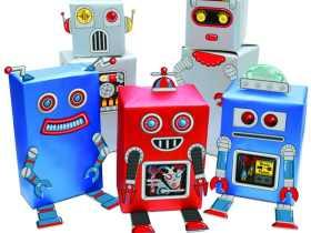 Luckies 创意机器人礼品包装纸/Robot Gift Wrap 礼品包装纸