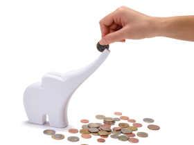Monkey Business 长鼻小象存钱罐/Elli-Rolling Coins Bank