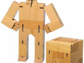Areaware 木质魔方变形金刚 Cubebot Toy 创意木制DIY玩具
