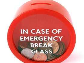 Suck UK 消防存钱罐 紧急存钱罐/Emergency Money Box