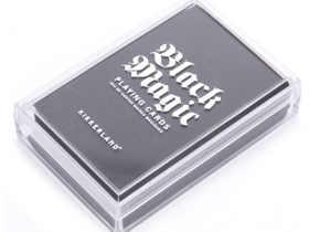 Kikkerland 黑魔法塑料防水扑克牌/Black Magic Playing Cards