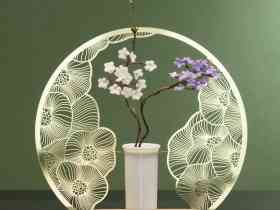 YeDuo Blooming Flowers and Full Moon Vase