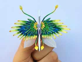 美丽折纸鸟