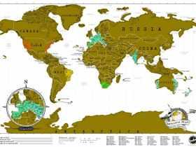 Luckies 刮刮地图旅游版/Scratch Map Travel