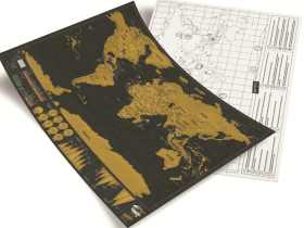 Luckies 刮刮世界地图奢华版/秀秀地图 创意礼品/Deluxe Map – 小号