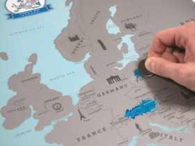 Luckies 刮刮地图欧洲版/Scratch Map Euro