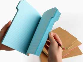 Suck UK 标签式笔记本4件装 创意标记记事本/Tab Notebook