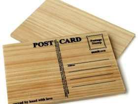 Suck UK 雕刻属于你的明信片 木质明信片/Post Card