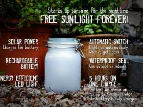 Suck UK 太阳能创意礼品阳光罐/Sun Jar